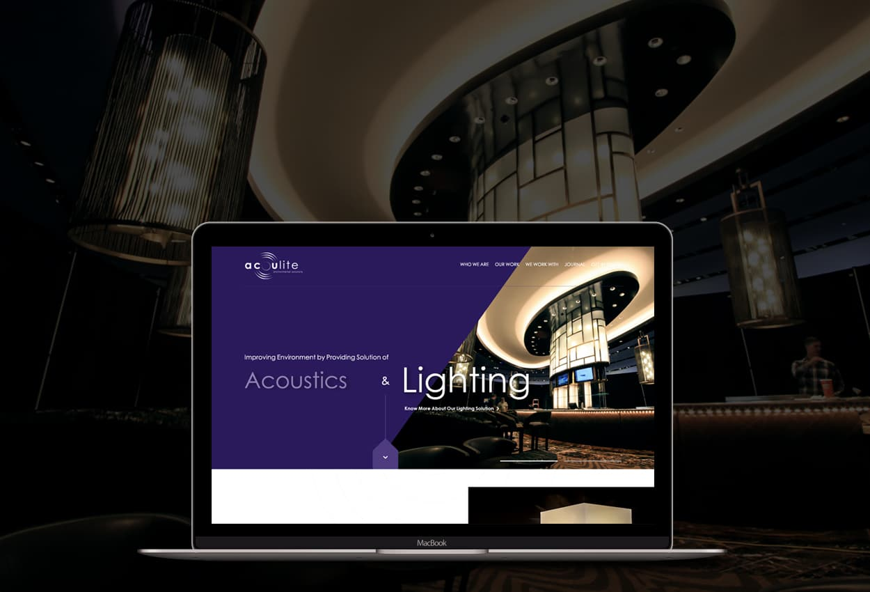 Wordpress website for Acoulite Trading LLC
