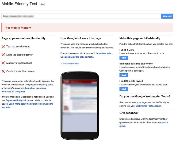mobile friendly website dubai